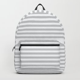 Simple stripes grey. Marine theme Backpack