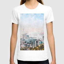 Hong Kong City skyline painting / drawing/ Illustration T-shirt
