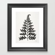 Black Fern Framed Art Print