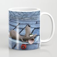 shopping Mugs featuring shopping by Ancello