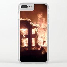 Gilbert,  Arizona Aparment Fire Clear iPhone Case