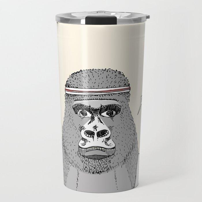 Gorillas love exercise Travel Mug