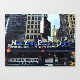 New York Police Dept Canvas Print