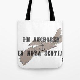 I'm Anchored in Nova Scotia Tote Bag