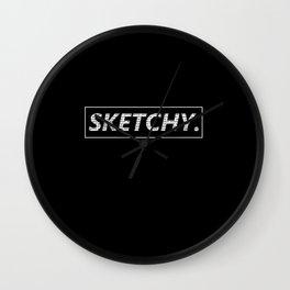 SKETCHY Wall Clock