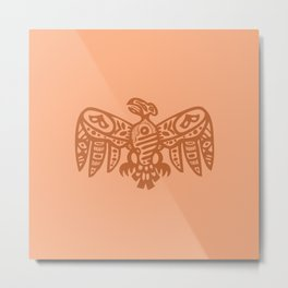 Aztec Eagle Metal Print