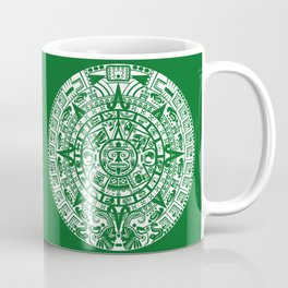 Mayan Calendar // Forest Green Coffee Mug