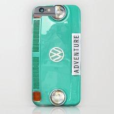 Adventure wolkswagen. Summer dreams. Green iPhone 6 Slim Case