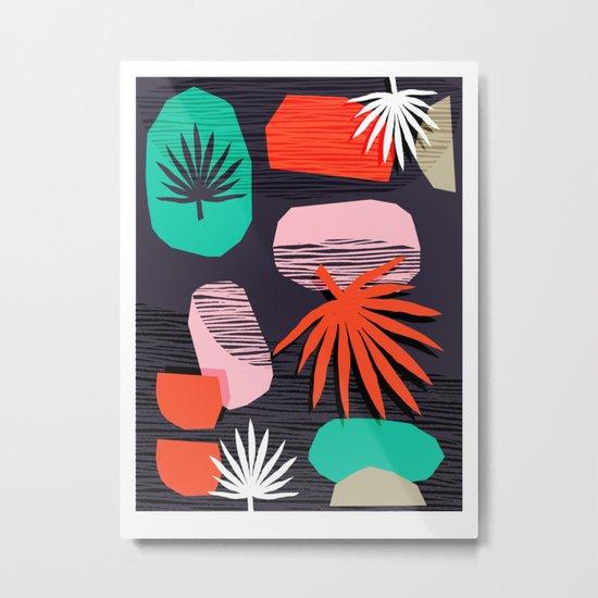 Dank - memphis style 80's throwback neon shape palm house plant retro vintage decor hipster art by wacka