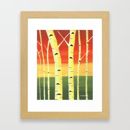Birch Woods Framed Art Print