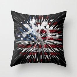 Joshua Tree Americana by CREYES Throw Pillow