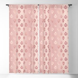 Rose Gold Fancy Spades Pattern Blackout Curtain