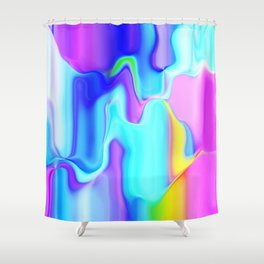 Dripping Paint 3 Shower Curtain