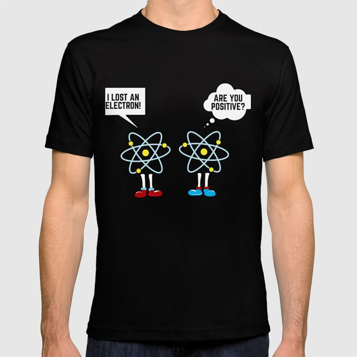 4f242e5c7 Heren: kleding I LOST AN ELECTRON POSITIVE SCIENCE PUN CHEMISTRY Mens Black  Long Sleeve T-Shirt