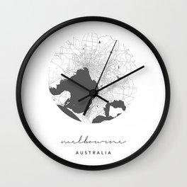 Melbourne Australia Circle Street Map Wall Clock
