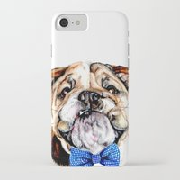 bulldog iPhone & iPod Cases featuring bulldog by Heathercook