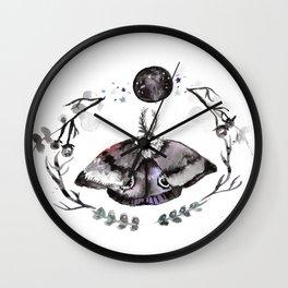 Midnight Moth Wall Clock