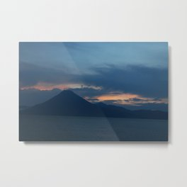 Volcanic Sunset Metal Print