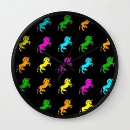 Dark Unicorns Wall Clock