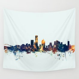 Milwaukee Wisconsin Skyline Wall Tapestry