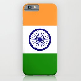 National flag of India - Authentic version to scale and color iPhone Case