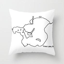 Cass Lake, MN Throw Pillow