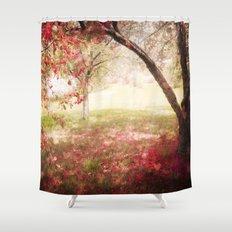 Love Lies Bleeding Shower Curtain
