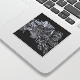 Silver Orchid Sticker