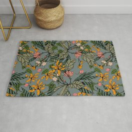 blooming flower botanical Rug