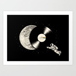 Tha Dark Side of the Moon Art Print