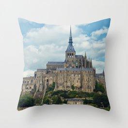 Saint Michel Castle Throw Pillow