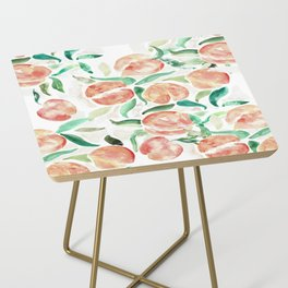 Watercolor Peaches Side Table