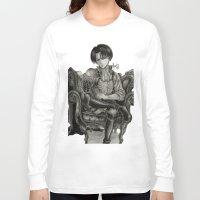 levi Long Sleeve T-shirts featuring Levi Ackerman by OtakuRuki