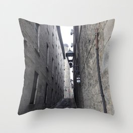 Old Montreal Cobble Road Throw Pillow