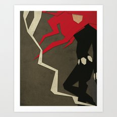 Paper Heroes - Black Widow Art Print