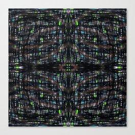 Green Lights At Night Canvas Print