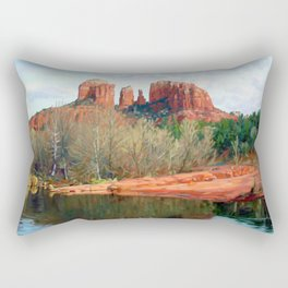 Healing Waters of Cathedral Rock Rectangular Pillow