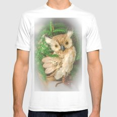 Toy owl  MEDIUM White Mens Fitted Tee