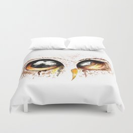 Bown owl eye Duvet Cover