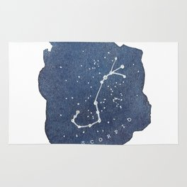 scorpio constellation zodiac Rug