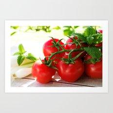 Fresh Tomatos Art Print