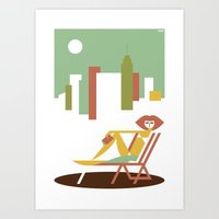 central park Art Prints featuring Central Park by Szoki