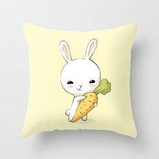 Bunny Carrot 2 Throw Pillow