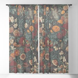 EXOTIC GARDEN - NIGHT XXI Sheer Curtain
