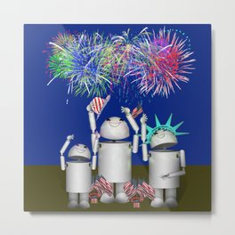 Robo-x9 & Family Celebrate the 4th of July Metal Print