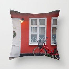 Swedish House Throw Pillow