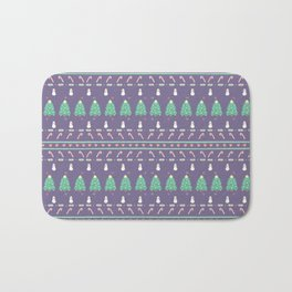 Purple Christmas Bath Mat