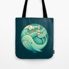 Into the Ocean Tote Bag