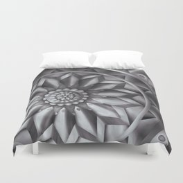 Black and White Minimalist Mandala Design Duvet Cover
