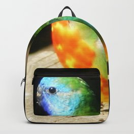 Scarlet-chested Parrot ( splendida ) Backpack